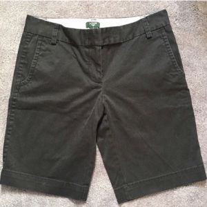 "J. CREW City Fit Black Shorts 10"" Inseam"